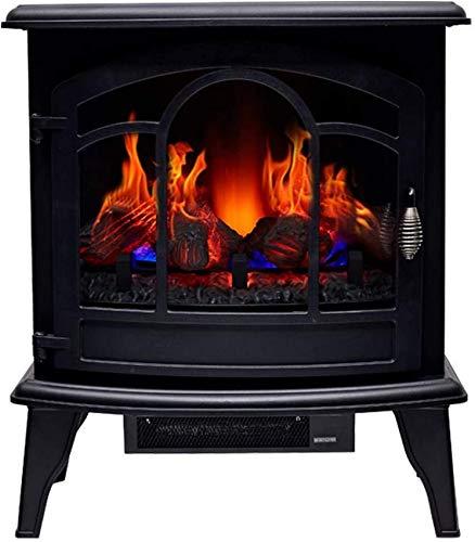 Fuego Eléctrico con Luces De Repisa De Chimenea Envolventes con Calentador De Chimenea Eléctrico Antiguo con Control Remoto con Luz Led De Leña
