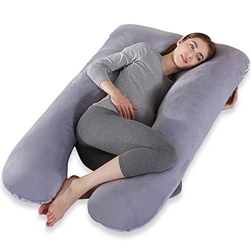 Cepheus Pregnancy Body Pillows with Velvet Cover, U Shaped Full Body Maternity...