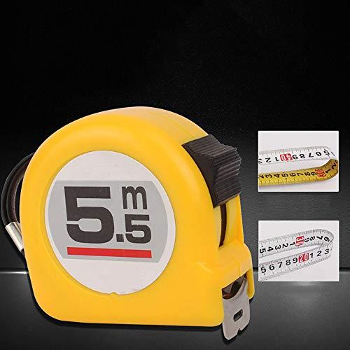 Meetband, dubbelzijdig afstuderen, alleen metrisch, intrekbare professionele meetlint, essentiële gadget voor thuis, werk en voor de gereedschapskist 7.5m×25mm Geel