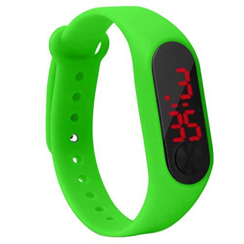 rongweiwang LED SN Mostrar niños Reloj de Pulsera Digital Delgada Estudiante Reloj de Pulsera de Estudiante Fitness Digital Muñeca Muñeca Boy Girl Supplies Supplies