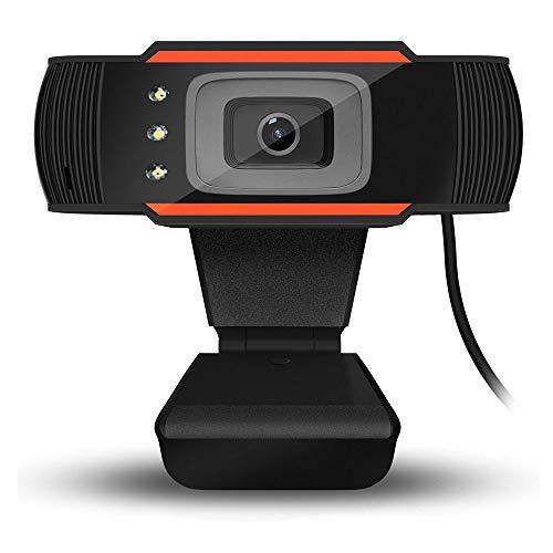 HENGKANG USB2.0 Cámara Web, videoconferencias y grabaciones de vídeo Full HD, 640 * 480 Resolución, Micrófono Integrado,Negro