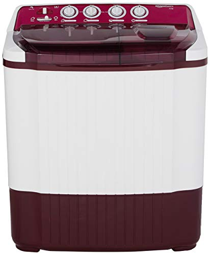 AmazonBasics 7.5 kg Semi-Automatic Top Load Washing machine (Burgundy)