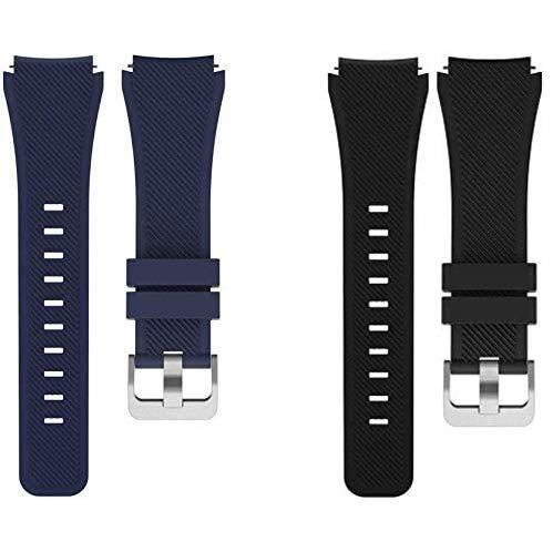 Giaogor Armband Kompatibel Für OnePlus Watch, Sport Silikon Classic Ersatz Uhrenarmband Für Xiaomi Huami OnePlus Watch (Schwarz+Blau)