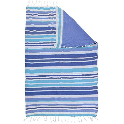 DHestia - Pareo Toalla de Playa con Rizo y Flecos de 100x150 cmMINAR Azul
