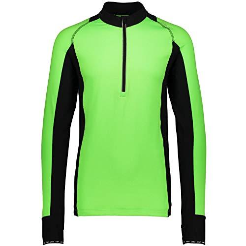 CMP de Course pour télécopieurs T-Shirt Haut col Vert Fermeture éclair Mesh gridtech 3 C42167 Taille 50, Vert/Noir