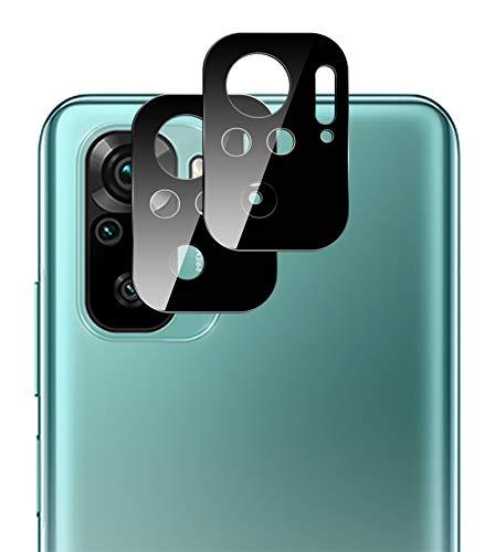 GIOPUEY Pellicola Fotocamera per Xiaomi Redmi Note 10,[2 Pezzi] Xiaomi Redmi Note 10S Protezione Fotocamera 3D Ultra Sottile Vetro Temperato [Durezza 9H] [Resistente ai Graffi]