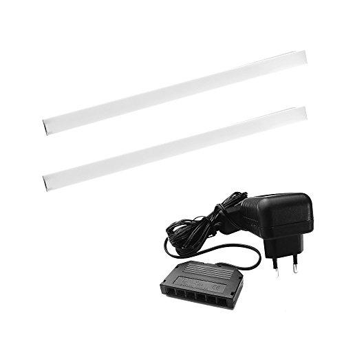 Pachel LED Glasbodenleuchte 300mm 4000K Warmweiß - [LED Profil, Lichtleiste, Wohnzimmer Beleuchtung, Indirekte Beleuchtung, Alu-profil, Einlassleuchte, Küchenbeleuchtung] (2er Set)