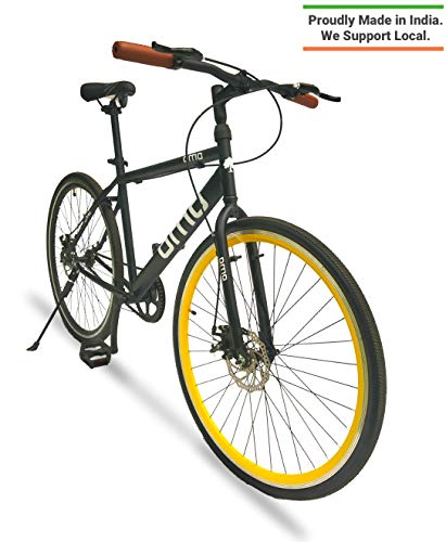Omobikes Carbon Steel Model Light Weight Bicycle with 700c Tyres (Yellow)