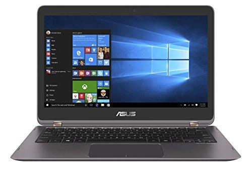 Asus Zenbook Flip UX360UA-C4154T 33,7 cm (13,3 Zoll,Full HD, Touch)  Laptop (Intel Core i5-6200U, 8GB Arbeitsspeicher, 256GB Festplatte, HD Graphics, Win 10) grau