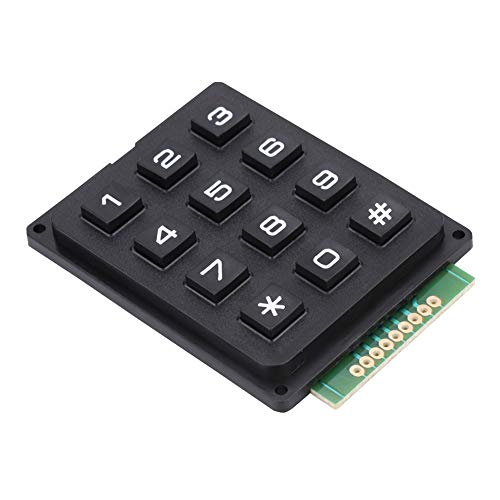 Tosuny Teclado MCU, Teclado 3x4 con Estrella estándar (*) y símbolos Hash (#), módulo de Teclado con 12 Teclas, Teclado de una Sola Mano, Adecuado para Amantes de los Juegos