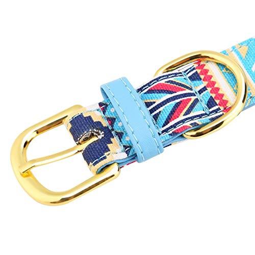 FOLOSAFENAR Textura Suave, Collar de Perro, Collar de Cachorro para Mascotas pequeñas, Perros,(M, Blue)