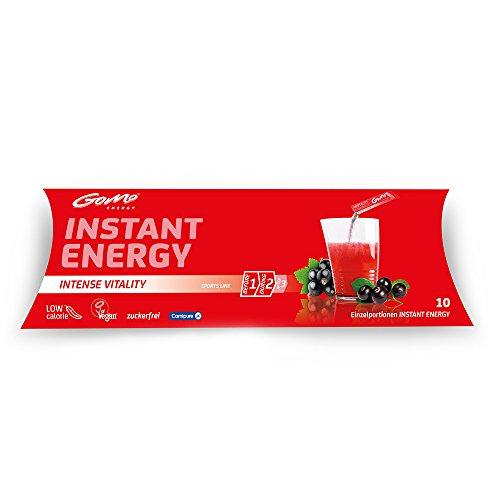 GoMo ENERGY Energy Drink ohne Zucker, vegan │ Wachmacher +Koffein +Vitamin-B-Komplex für mehr Aufmerksamkeit │ Vitaldrink mit Holunder & Acai │ Intense Vitality 10 Einzelportionen (10 x 5.3g)
