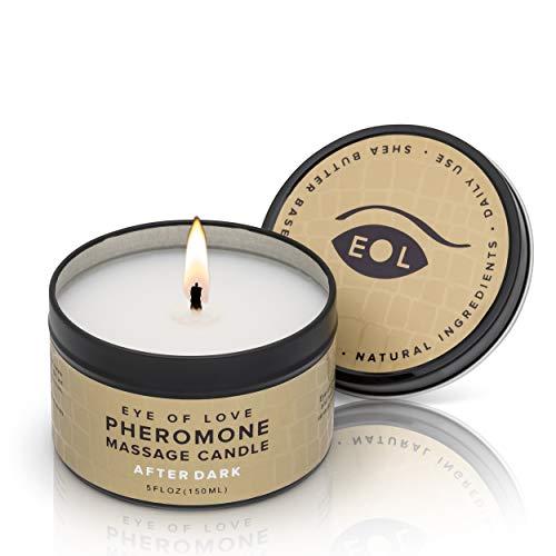EYE OF LOVE feromon massage kaars - donker, per stuk verpakt (1 x 150 ml)