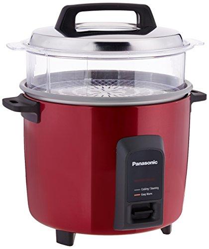Panasonic Metallic 5.4-Litre 750-Watt Automatic Rice Cooker (Silver)