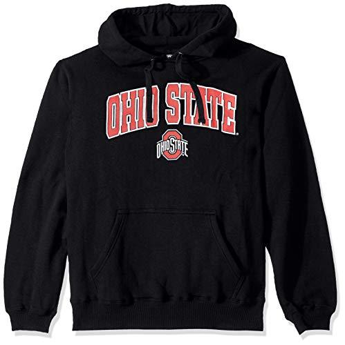 NCAA Ohio State Buckeyes Men's Hoodie Sweatshirt Black Arch, Black, X-Large