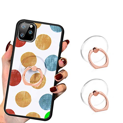 Transparent Phone Ring Cell Phone Ring Holder 360 Degree Rotation Round Finger Ring Stand Kickstand Compatible Most of Smartphones Set of 2 (Rose Gold)