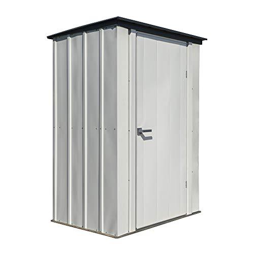 Arrow Shed Designed 4' x 3' x 6' Compact Outdoor Metal Backyard, Patio, and Garden Shed Kit, 4' x 3'