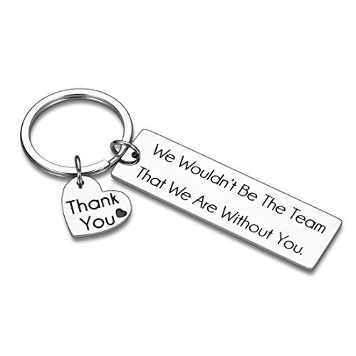 Sophauteem Coworker Going Away Thank You Gift Keychain for Women Men Office Team Members Boss Coach Mentor Supervisor Birthday Christmas Farewell Leaving Gifts Retirement Goodbye Gifts Her Him Key Chain Jewelry, Silver, Small