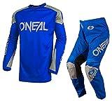 Oneal Matrix 2019 - Traje protector para motocicleta MX para adultos, ATV, quad, motocross, enduro, motocross, ropa protectora (naranja) (naranja: parte superior (S), pantalón: 28 pulgadas)