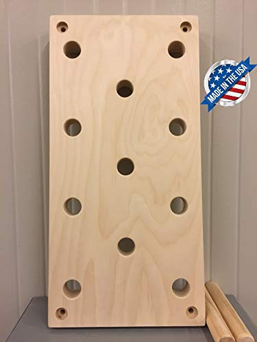 """Plyobox Warehouse 12""""x24"""" Climbing Pegboard. Now with Free Custom Engraving Options!!!!!"""