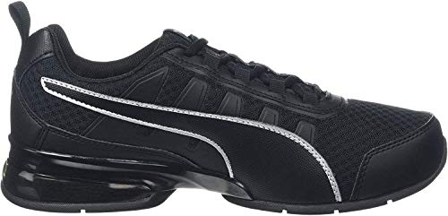 PUMA Unisex-Erwachsene Leader Vt Mesh Sneaker, Schwarz (Puma Black-Puma Silver 7), 46 EU (11 UK)