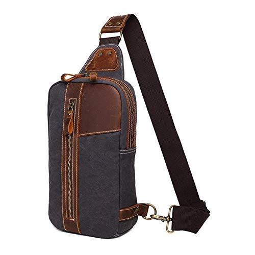 Borsa da Uomo Durevole Petto Canvas Bag Petto Multifunzionale Cassa Casuale Bag antifurto Shoulder Bag Regalo