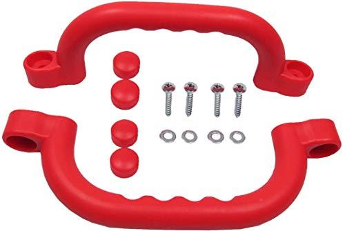 2 Stück Haltegriffe/Handläufe in rot ideal für Klettergerüste Baum und Spielhäuser