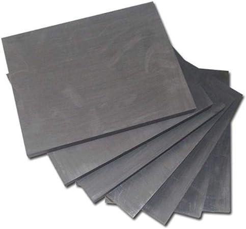 electr/ólisis,50mm/×50mm/×50mm Hzonder 99,9/% de Grafito Puro Placa de Grafito pirol/ítico Hoja de electrodos