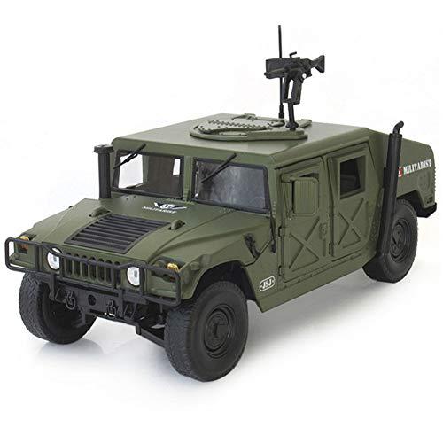 Modello in Lega di Auto di Simulazione Hummer H1 Modello in Scala 1:18 Willis Jeep Veicolo Militare Bambini Tirare Indietro Giocattolo Auto Esercito Edizione Speciale Die Cast