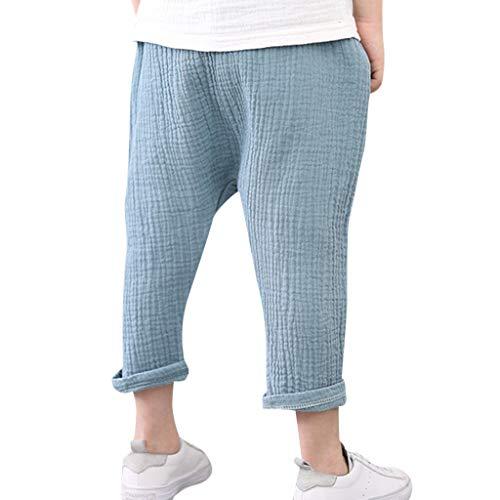 Alwayswin Kinder Jungen Mädchen Freizeit Hosen Kinderhose Casual Baumwolle Hosen Pluderhosen Anti-Mücken Plissee Hosen Einfarbig Atmungsaktiv Hosen Einfach Mode Hosen Elastische Hose