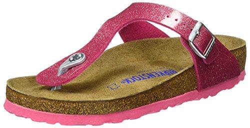 Birkenstock Womens Gizeh Bright Rose Softbed Regular Fit Toe Post Sandal Size 3.5