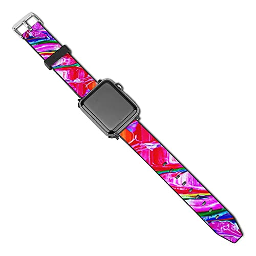 SWEET TANG Women Men The New Science Tie Dye of Psychedelics Apple Watch Band 38mm/40mm, 42mm/44mm, Adjustable Elastics Watch Bands Sport Bands, Leather Sport Replacement Strap Sport Edition