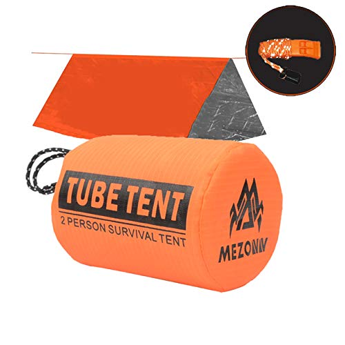 Earthquake, hurricane, tornado, etc. emergency after disaster Life Tent Survival Bivy Sack- Use As Survival Tent, Survival Gear for Outdoor, Hiking, Camping - Includes Survival Whistle & Paracord