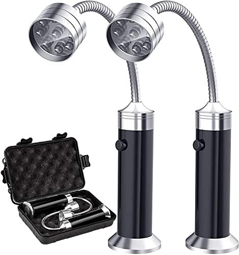 DailyAdorn Grill Licht, Magnetische Grilllampe Outdoor BBQ Licht Set Flexibel Grill Lampen Grill Lichter BBQ Zubehör - 2 Stücke, Schwarz