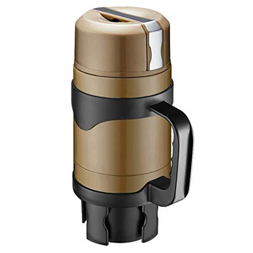 Creative Light- Tasse de Chauffage de Voiture de Grande capacité 12V / 24V en Acier Inoxydable Matériau 3D Liner stéréo Un Bouton Bouilloire électrique pour Le Pique-Nique de Voyage, etc.