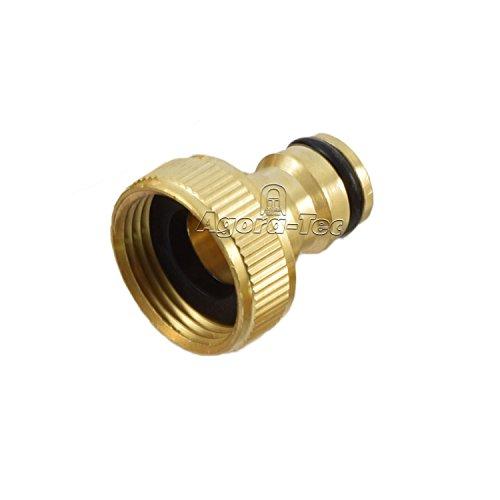 Agora-Tec Messing Hahnanschluss 3/4 Zoll IG (24,2mm) für Stecksystem und Schnellkupplung System, Industriequaltät