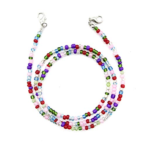 """Borge 1Pcs Beaded Mask Chains Face Mask Lanyards Eyeglass Chains Beaded Necklace Lanyard for Women Kids Gifts, Various, 27.5"""""""