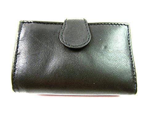 pour Hommes Femmes Femmes Noir Portefeuille Supoort Carte de Crédit en Cuir Porte-Monnaie Portefeuille Compartiment Monnaie