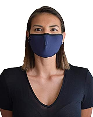 TRAVLEISURE Adjustable, Reusable, Washable FACE MASK - Adult/Bamboo/Navy