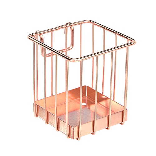 AmazonBasics Grid Panel Pencil Cup Holder, Rose Gold