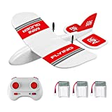 GoolRC KF606 RC Plane, 2.4Ghz Remote Control Airplane, EPP Foam Fixed Wing Plane, RTF Ready to Fly Gliding Aircraft Model Toys with 3 Battery for Beginner
