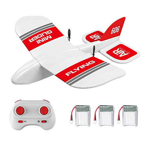 GoolRC RC Plane, KF606 2.4Ghz Remote Control Airplane, EPP Foam Fixed Wing Plane, RTF Ready to Fly Gliding Aircraft Model Toys with 3 Battery for Beginner