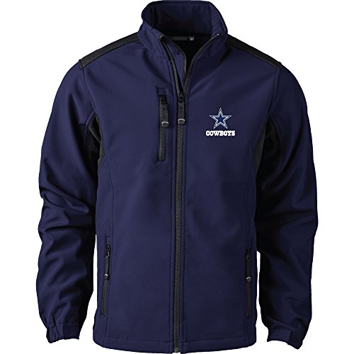 NFL Dallas Cowboys Men's Softshell Jacket, Large, Navy