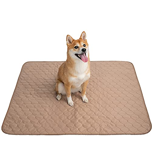 EZwhelp Pee Pads for Dogs - 34' x 36' Dog & Puppy Training Pads - Rounded Corners - Washable, Reusable - Laminated, Waterproof, Sanitary Potty Protector Dog Mat - Pet Essentials