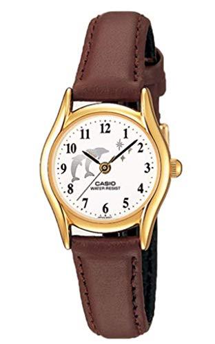 Casio ltp1094q-7b9 LTP1094Q-7B9 - Reloj para Mujeres, Correa de Cuero Color marrón