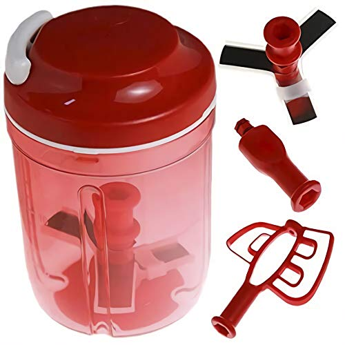 Tupperware Turbo Chef Herb Smart Chopper 730ml / 24.6 OZ (Red)
