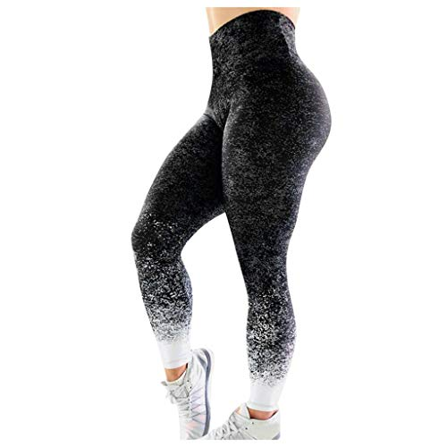 Eaylis Leggings , Damen Frauen, Schwarz, Laufen Push Up, Seamless Mode Bedruckte Muster, Bauchkontrolle, Skinny Pants Laufhose Yoga-Fitness-Hose