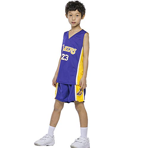 unbrand Jungen Cleveland Cavaliers Lebron James # 23 Basketball Shorts Mädchen Sommer Trikots Basketball Uniform Top & Short