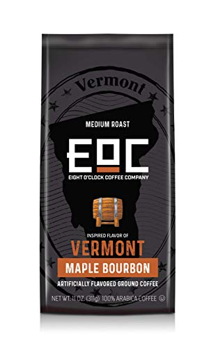 Eight O'Clock Coffee Flavors of America Ground Coffee, Vermont Maple Bourbon, 11 Ounce