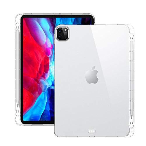 Custodia Per iPad Pro 11 pollici 2020 Trasparente Cristallo Trasparente Morbido TPU Con Portapenne Custodia Per iPad Pro 12,9 pollici 2020 Cover Posteriore-12.9 dicembre 2020